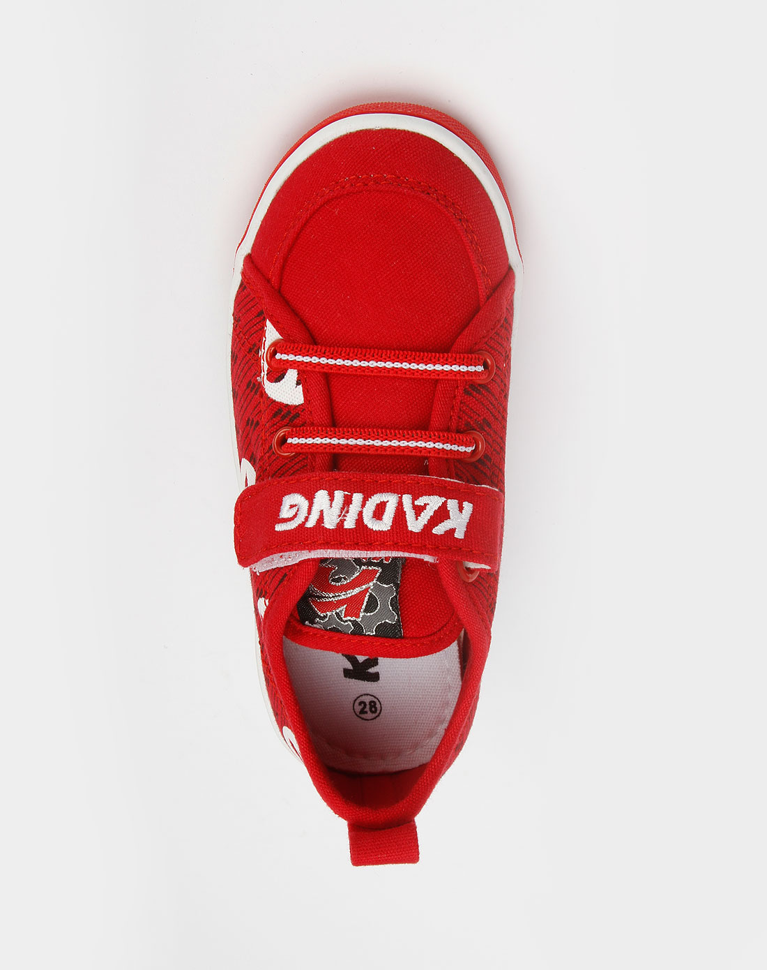 男童红/白色印花布鞋_卡丁童鞋官网特价3-5折