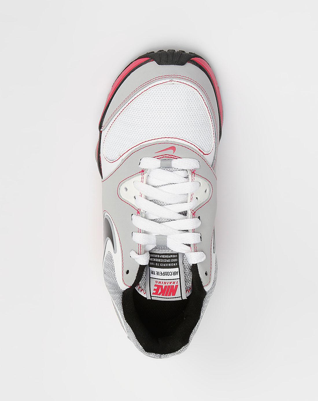 白/灰/粉红色网面拼接训练鞋