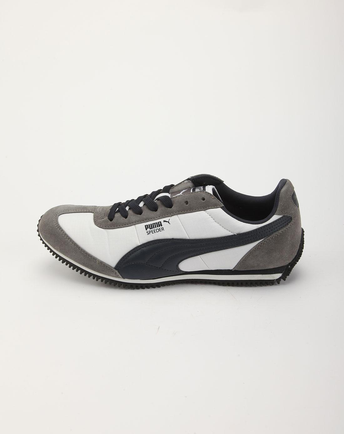 彪马puma白拼灰色格纹时尚休闲运动鞋35044711