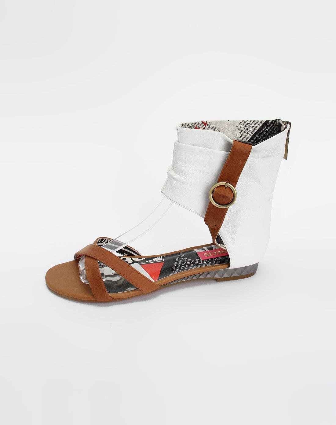 啡/白色时尚凉鞋_安玛莉precis官网特价1.1-4.5折