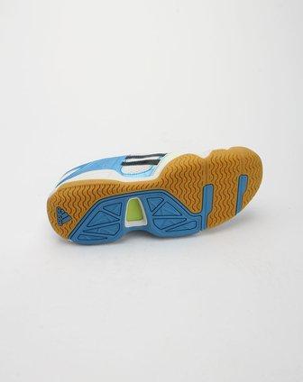 阿迪达斯adidas电光蓝拼黑白色休闲运动鞋u42005