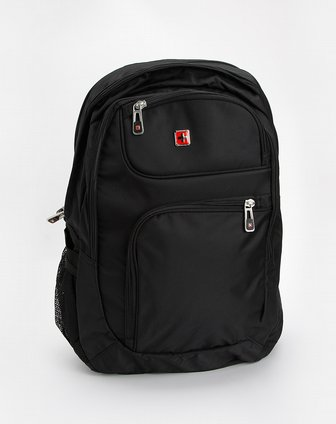 swisswin中性黑色时尚双肩电脑背包sw8301bk