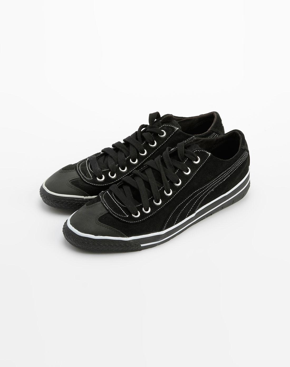 彪马puma黑/白色绑带帆布鞋35081601