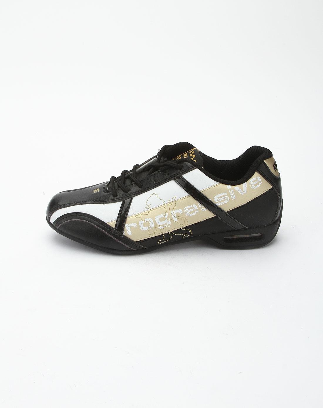 exr黑白拼金色休闲时尚运动鞋ej5rc1afmcwgd