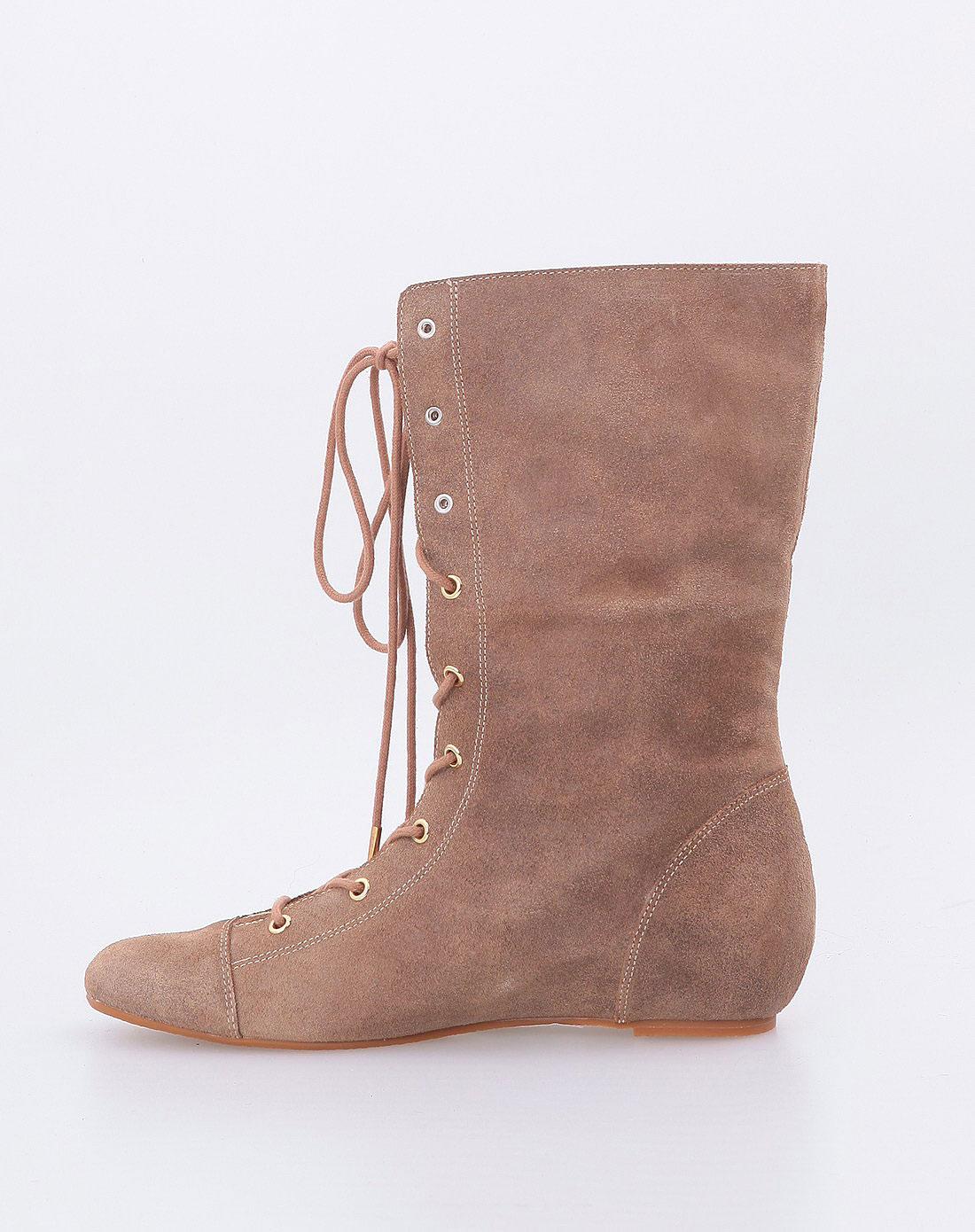 sofi卡其色时尚牛皮短靴nf0wbf0323-020