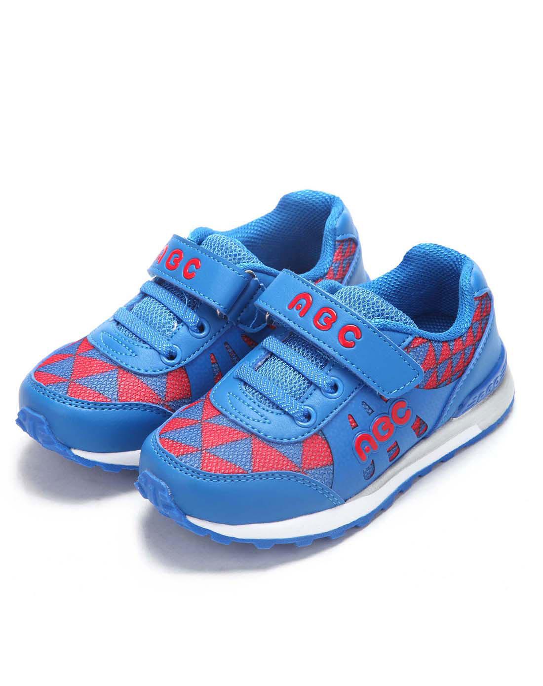 abckids男女童鞋男小童宝蓝红休闲运动鞋y2322306d