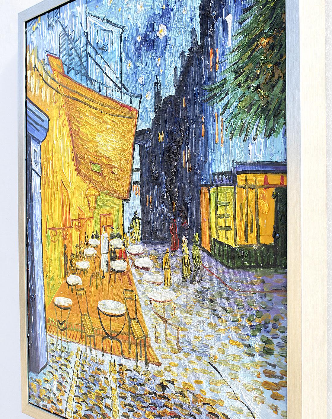 咖啡厅-纯手绘油画(单幅)
