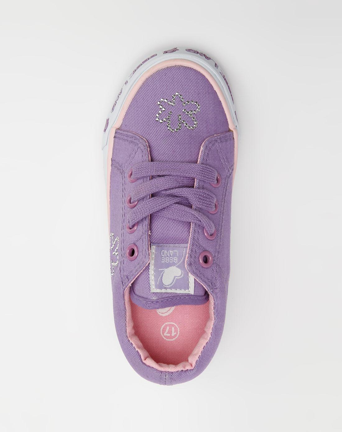 女童浅紫色贴钻布鞋_樱桃小丸子&喜羊羊与灰太狼官网