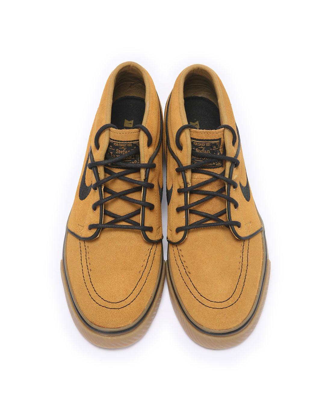 耐克nike男子黄色复古鞋443095-709