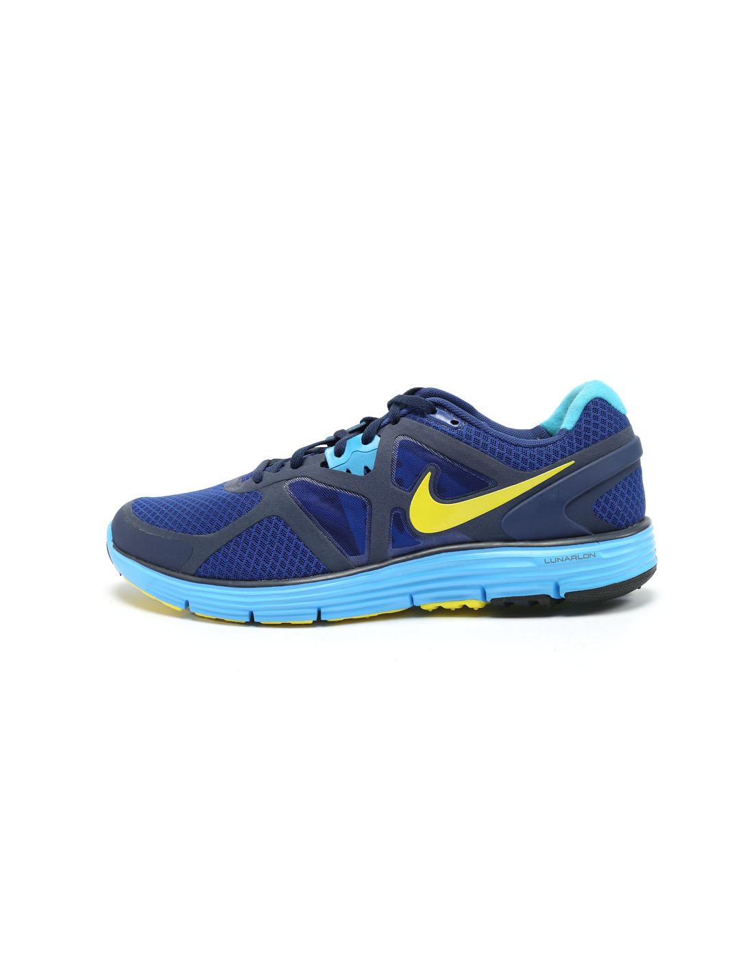 耐克nike男子蓝色跑步鞋454164-407