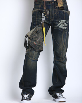 tough男款深蓝牛仔裤40898