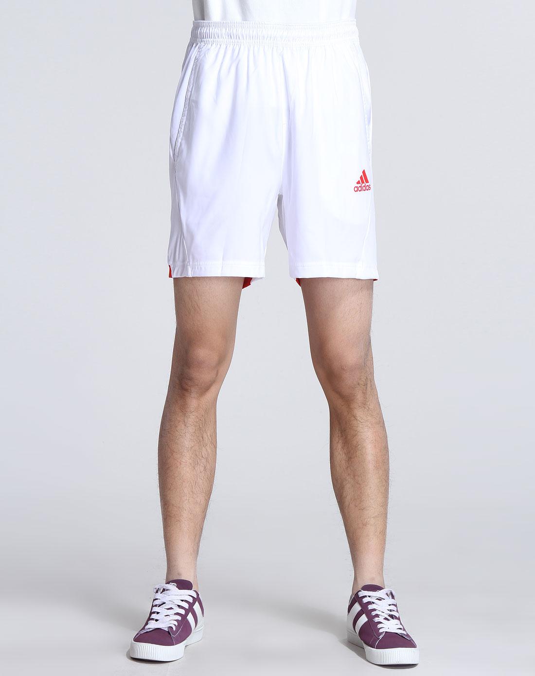 阿迪达斯adidas男装专场-男款白色休闲运动短裤