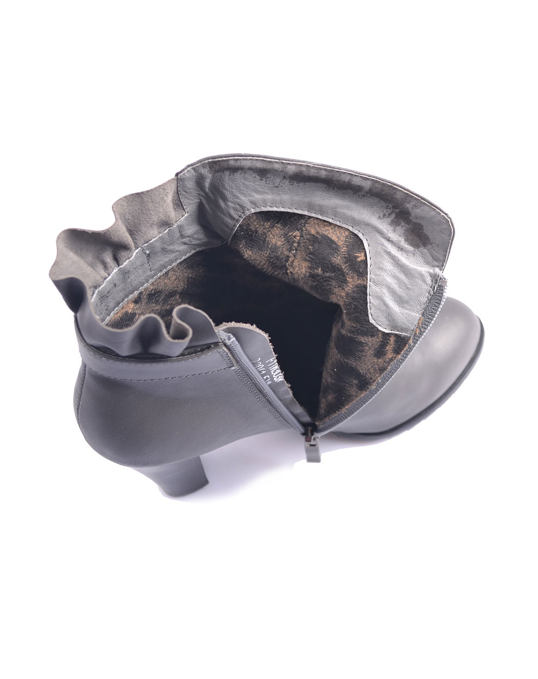 furuisi女款灰色牛皮鞋子f11