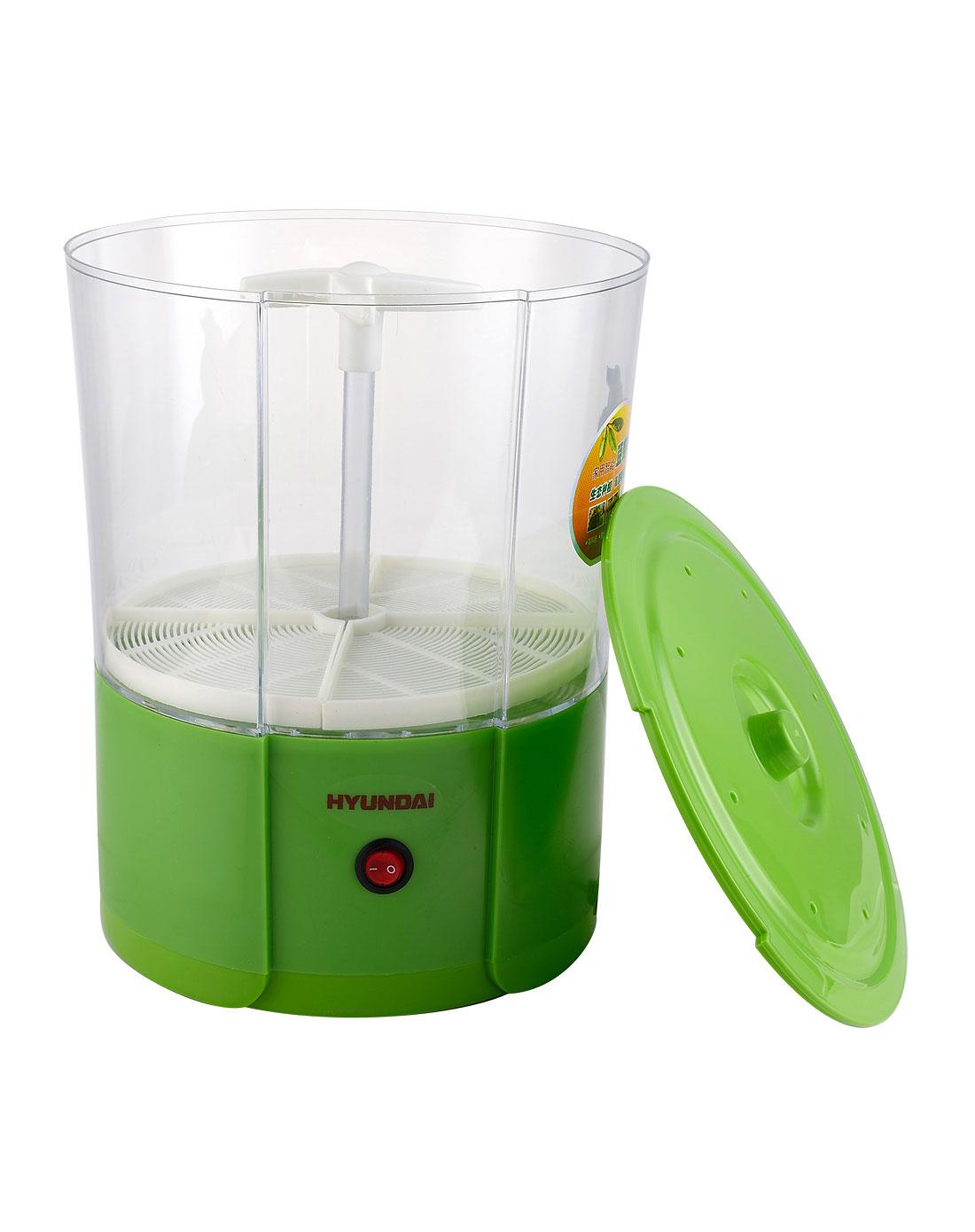 绿色圆筒家用智能豆芽机