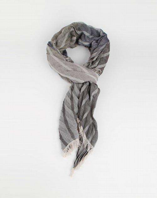 商品名称:深灰色条纹渐变时尚围巾