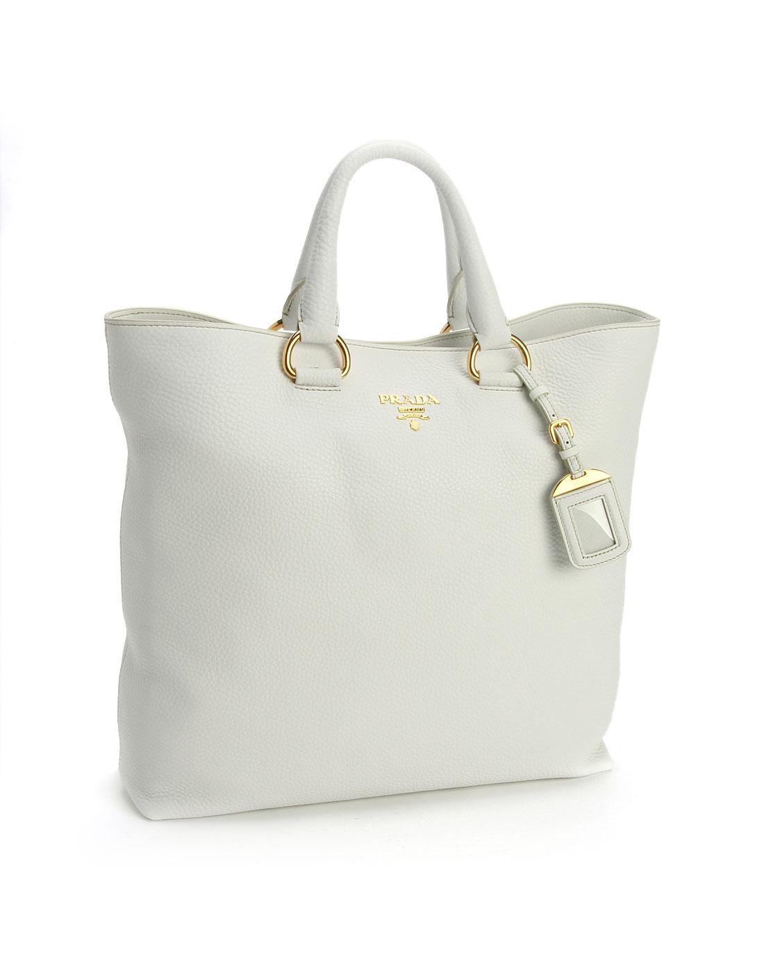 prada女款白色压纹时尚手提包bn1713bianco