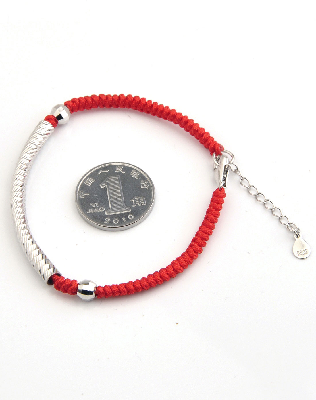 爱亿生aiyisheng925银纯手工编织红绳手链幸福女人