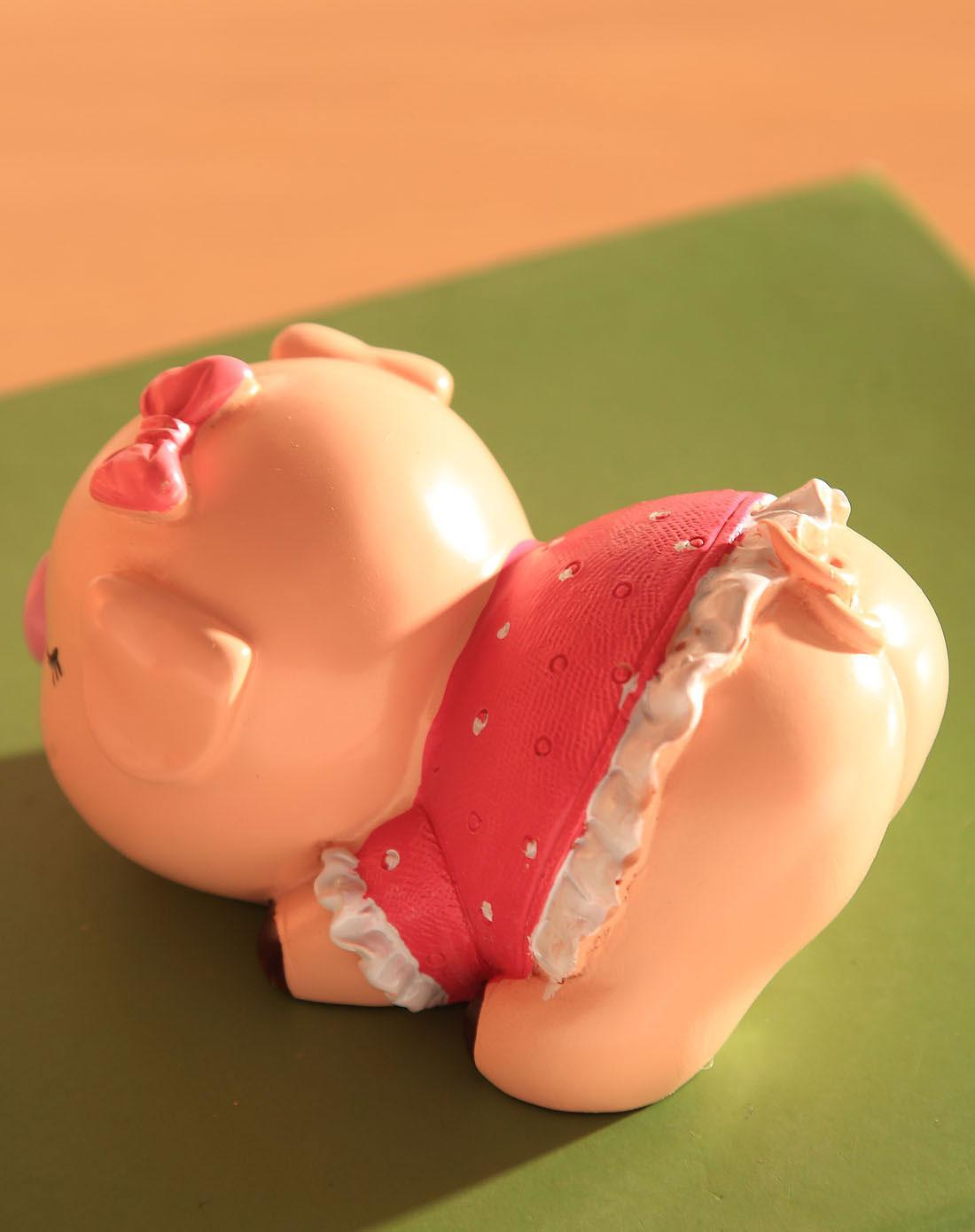 [ 荷玛 ] 卡通树脂工艺摆件-磁吸亲嘴猪一对