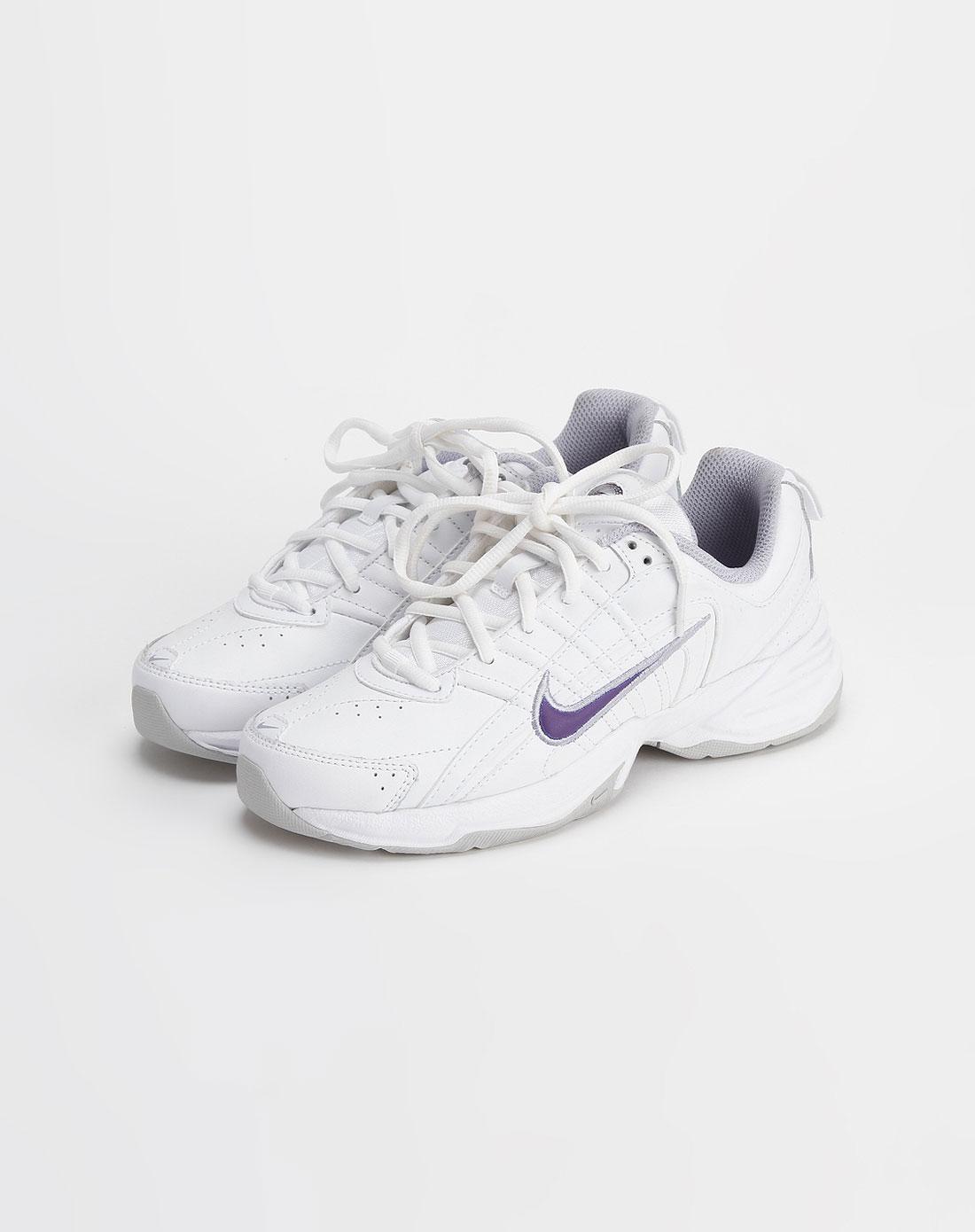 耐克nike-白色印花系带运动鞋