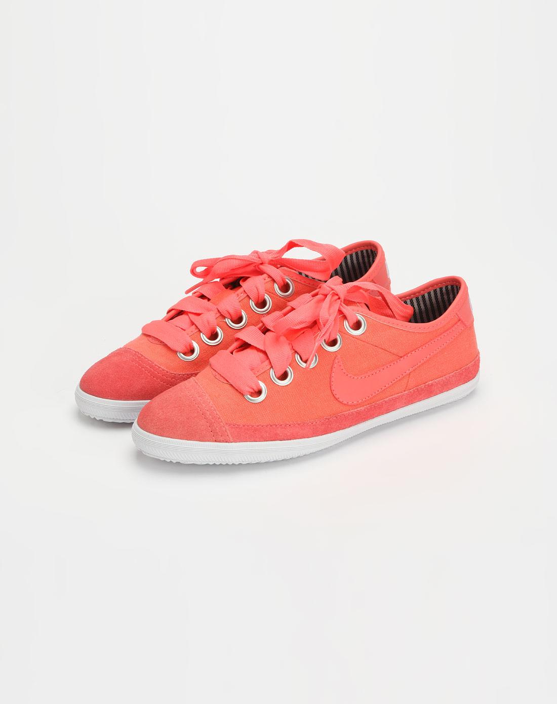 耐克nike-女款桃红色系带休闲鞋417797-600