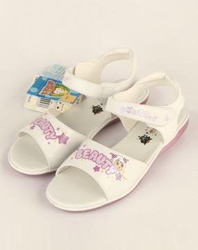 喜羊羊女款白色大童凉鞋x10111whi