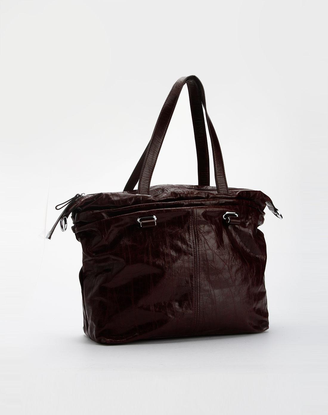 皮尔斯&百丽雅女款酒红包包