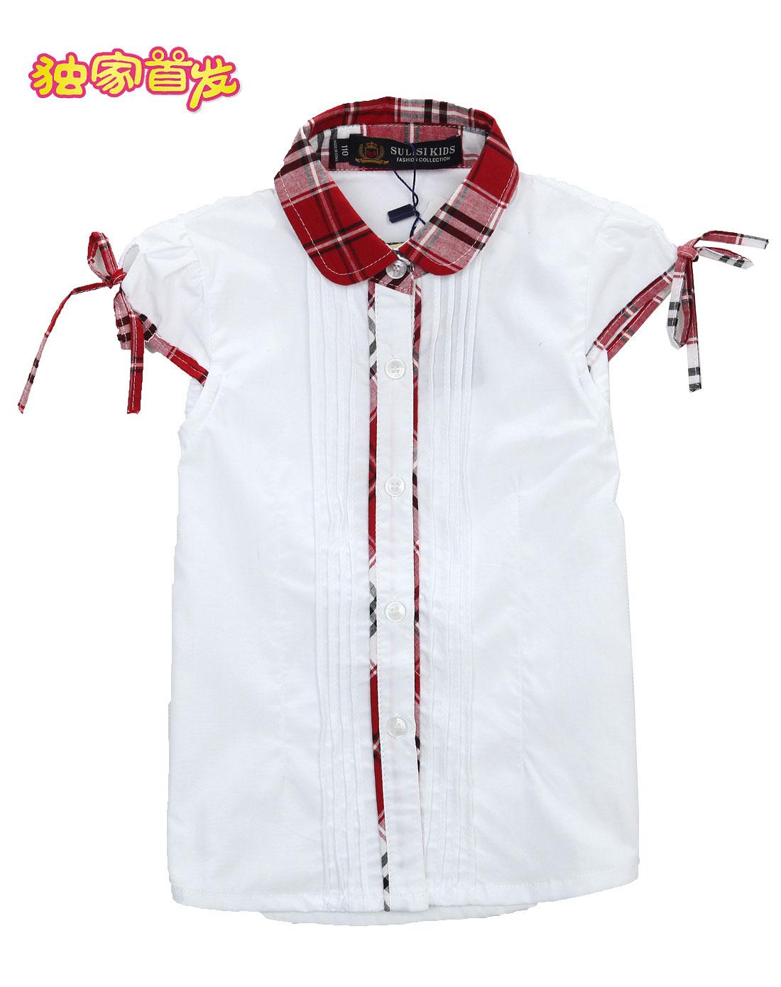 [ 苏黎世家 ] 女童白色长袖衬衫