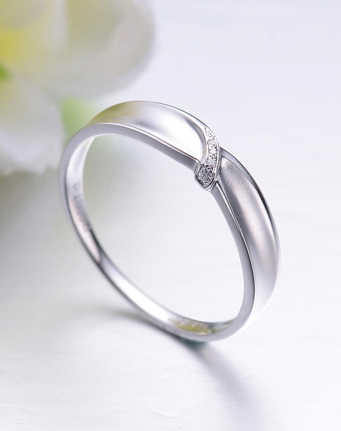 18k金钻石情侣戒指-男戒