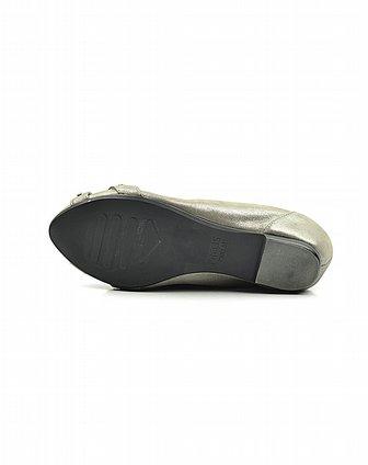康莉旗下品牌女鞋安玛莉precis 女款头层灰色布纹羊皮