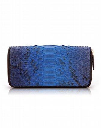 [ 贝尔 ] 蓝色蟒蛇皮钱包