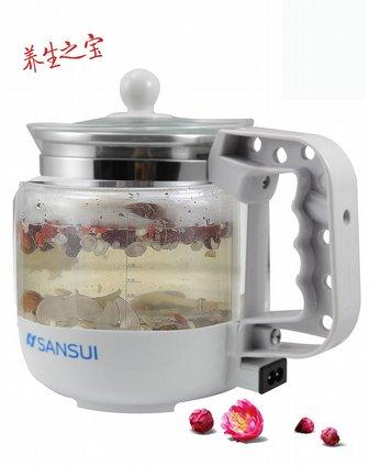 山水sansui电器专场多功能玻璃养生壶(白色)hbz-a002