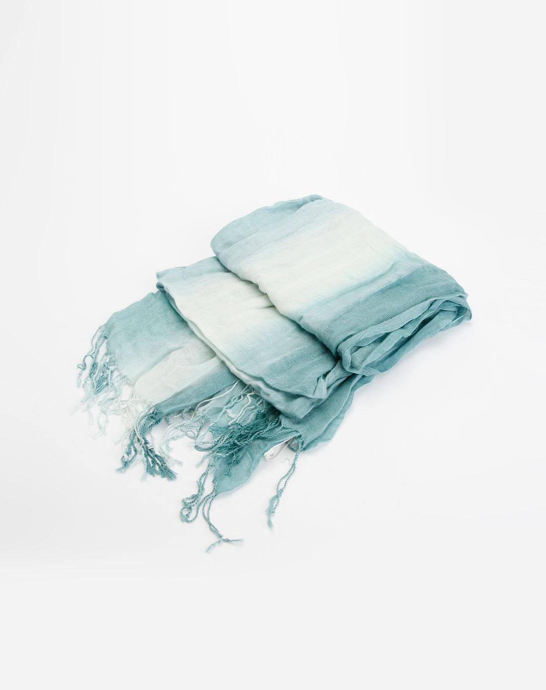 浅蓝/米色休闲围巾