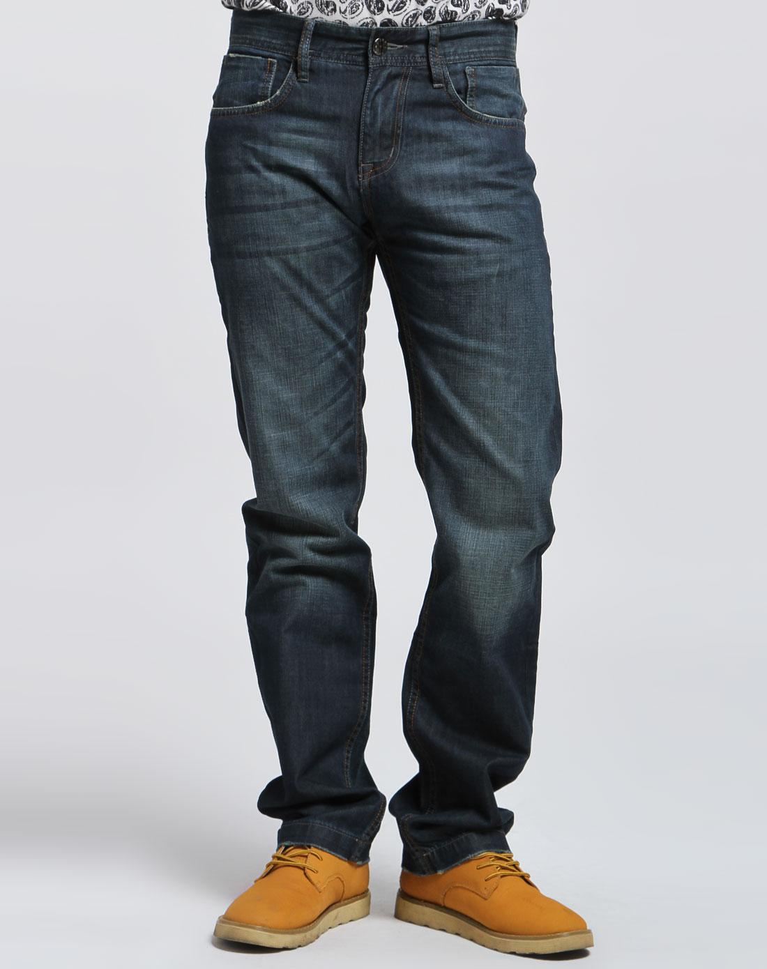 马克华菲 男款青/蓝色时尚牛仔长裤