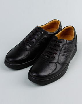诺贝达男款黑色皮鞋