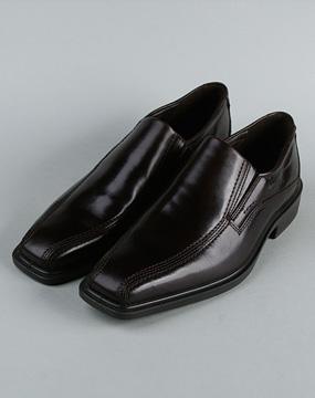 爱步ecco男款黑色皮鞋