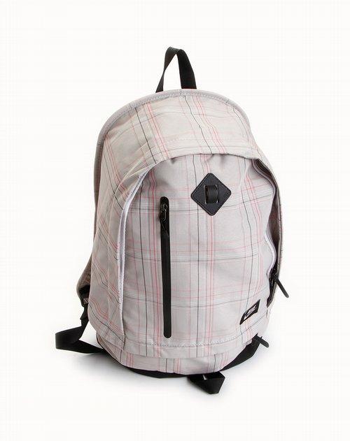 耐克nike-包包中性灰/红色条纹休闲背包