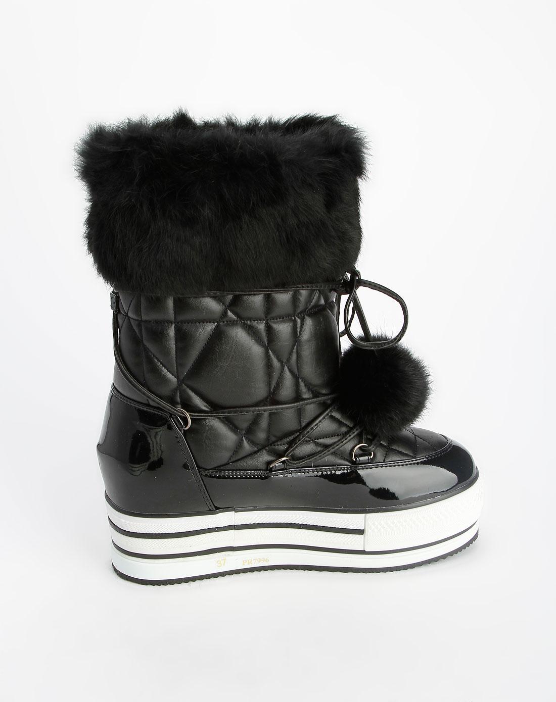 女款黑色时尚女鞋_pinkyrose