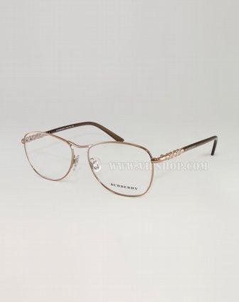 女款属边框眼镜架红铜色