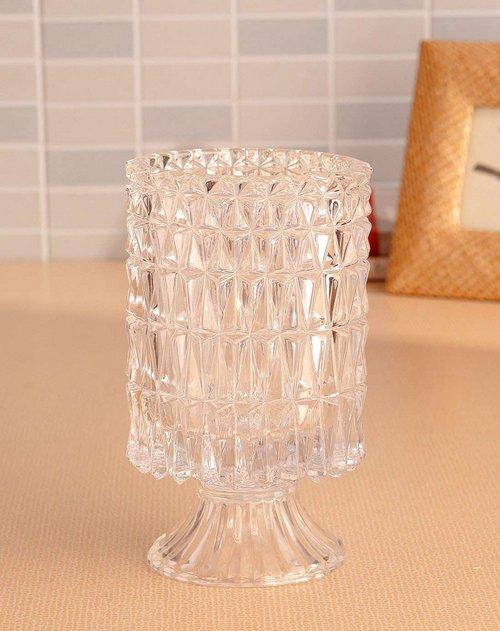 荷玛heim家居专场欧式水晶玻璃花瓶-水波纹