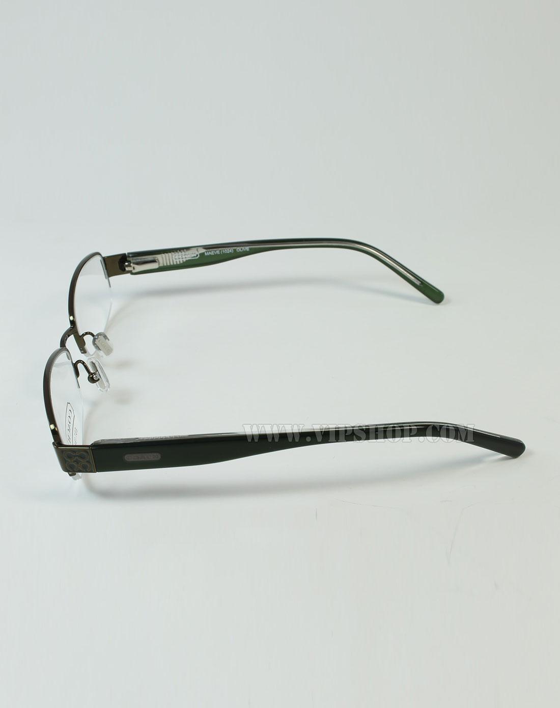 coach 女款简洁舒适半框型眼镜架青铜色