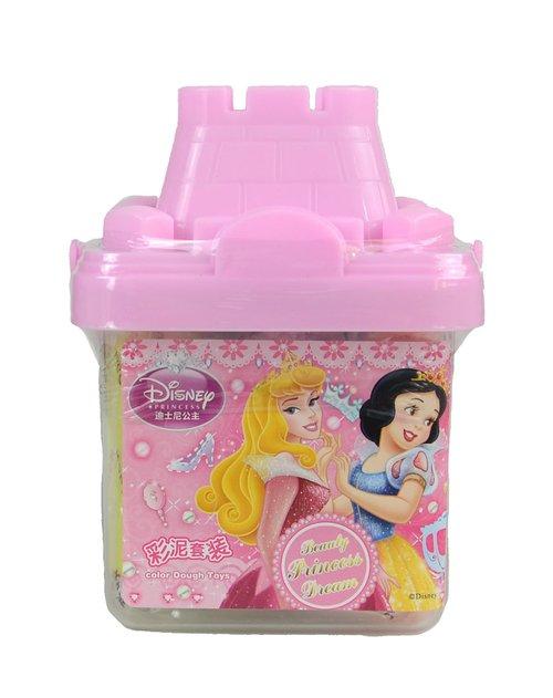 迪士尼 女童粉红可爱公主方形城堡彩泥