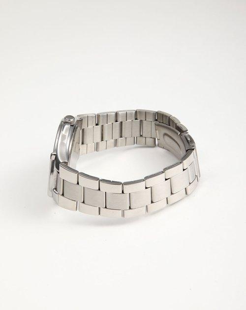 商品名称:男表 银壳钢带创意设计-阳光情侣  颜色:银壳黑面钢表带