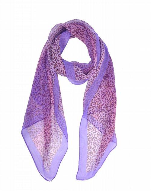 cling cling紫色经典豹纹时尚围巾