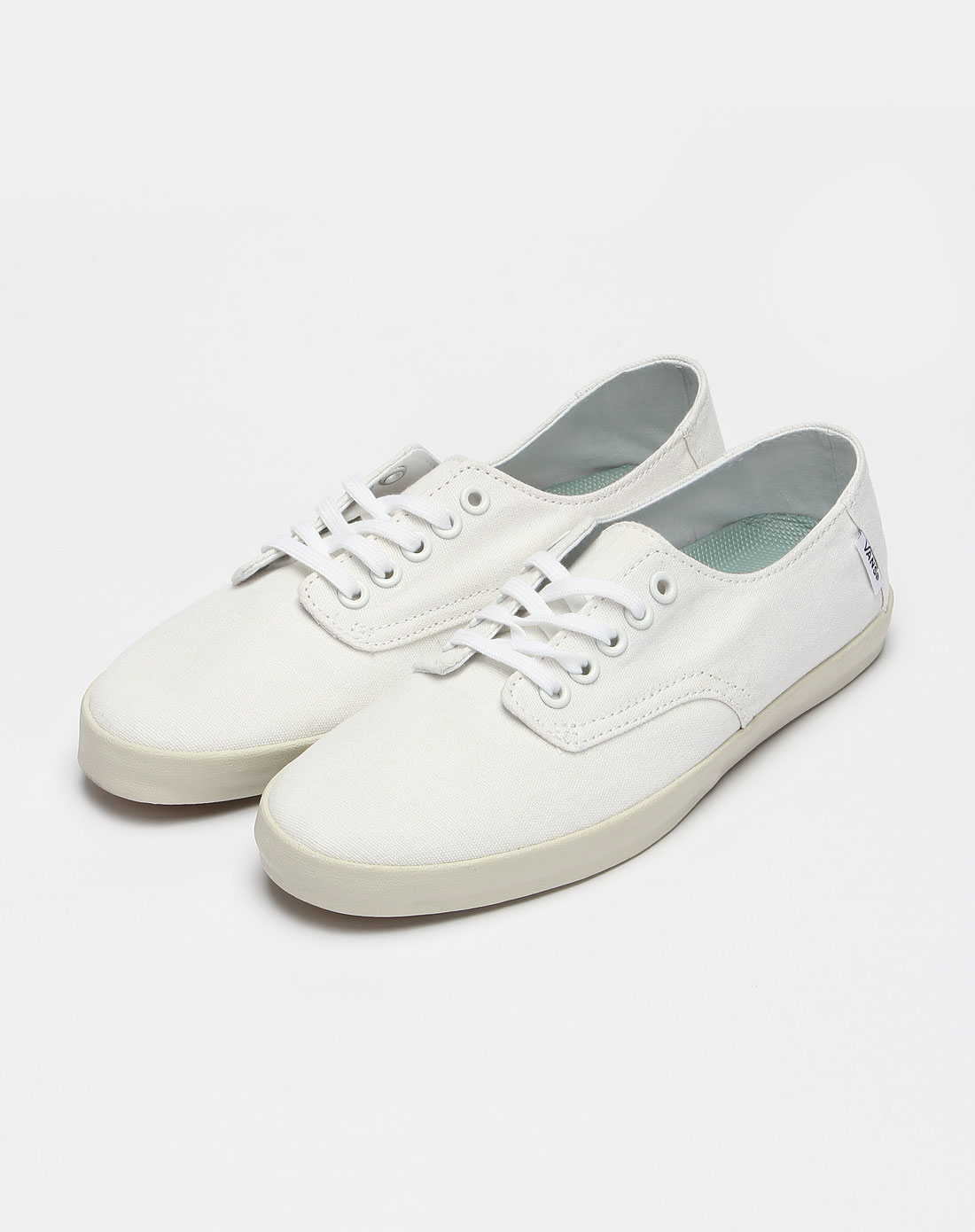 万斯vans女款白色休闲鞋